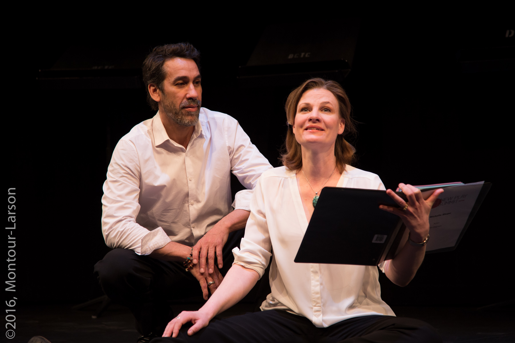 Jeffrey (Robert Montano) and Emma (Michelle Shupe) 2016, Denver Center New Play Summit, photograph by Mark Montour-Larson
