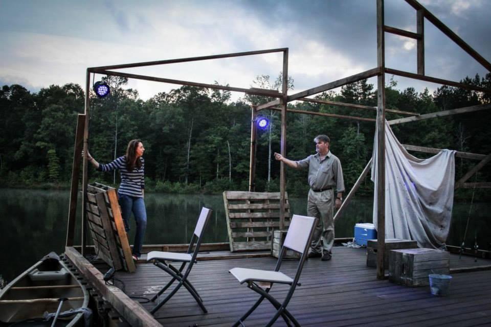 Maggie (Veronica Duerr) and Howard (Mark Kincaid) Serenbe Playhouse, 2014