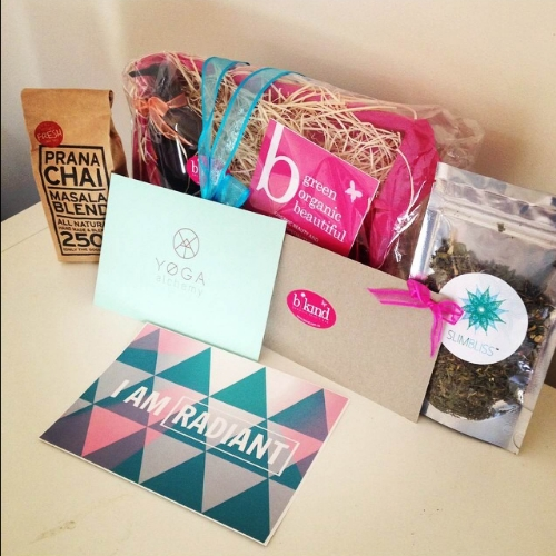All the beautiful gifts I received. I even won the door prize which was this lovely hamper from BKind Organic Beauty Bar worth $126!