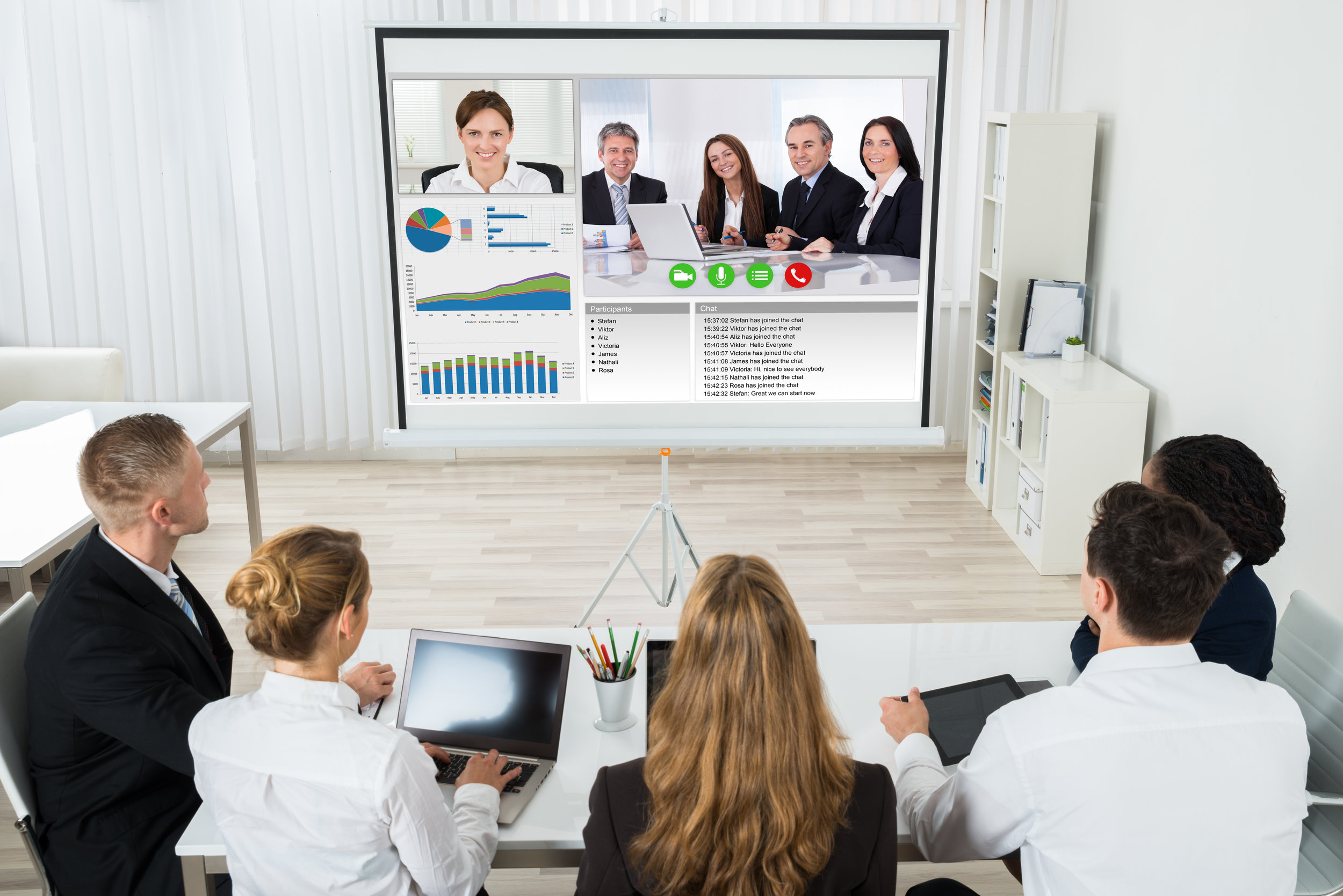 Smartboards - Smart boards are a revolution in any multi site business. By combining the power of a digital board that transmits anything written on it to all other boards and video conferencing, you have the perfect solution for fast collaboration..