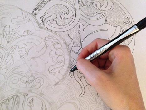 Ink outline