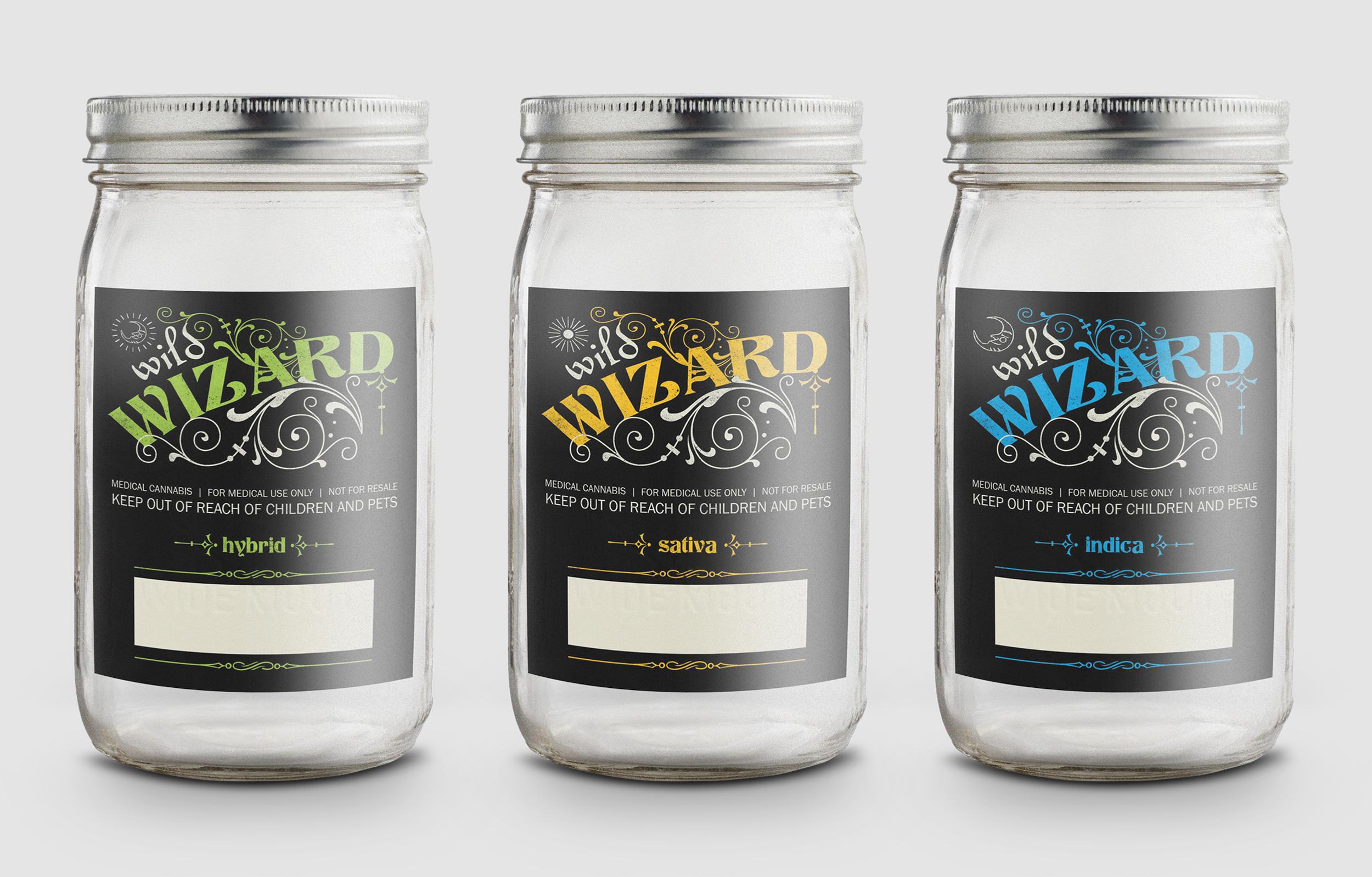 Wild Wizard Jar Labels