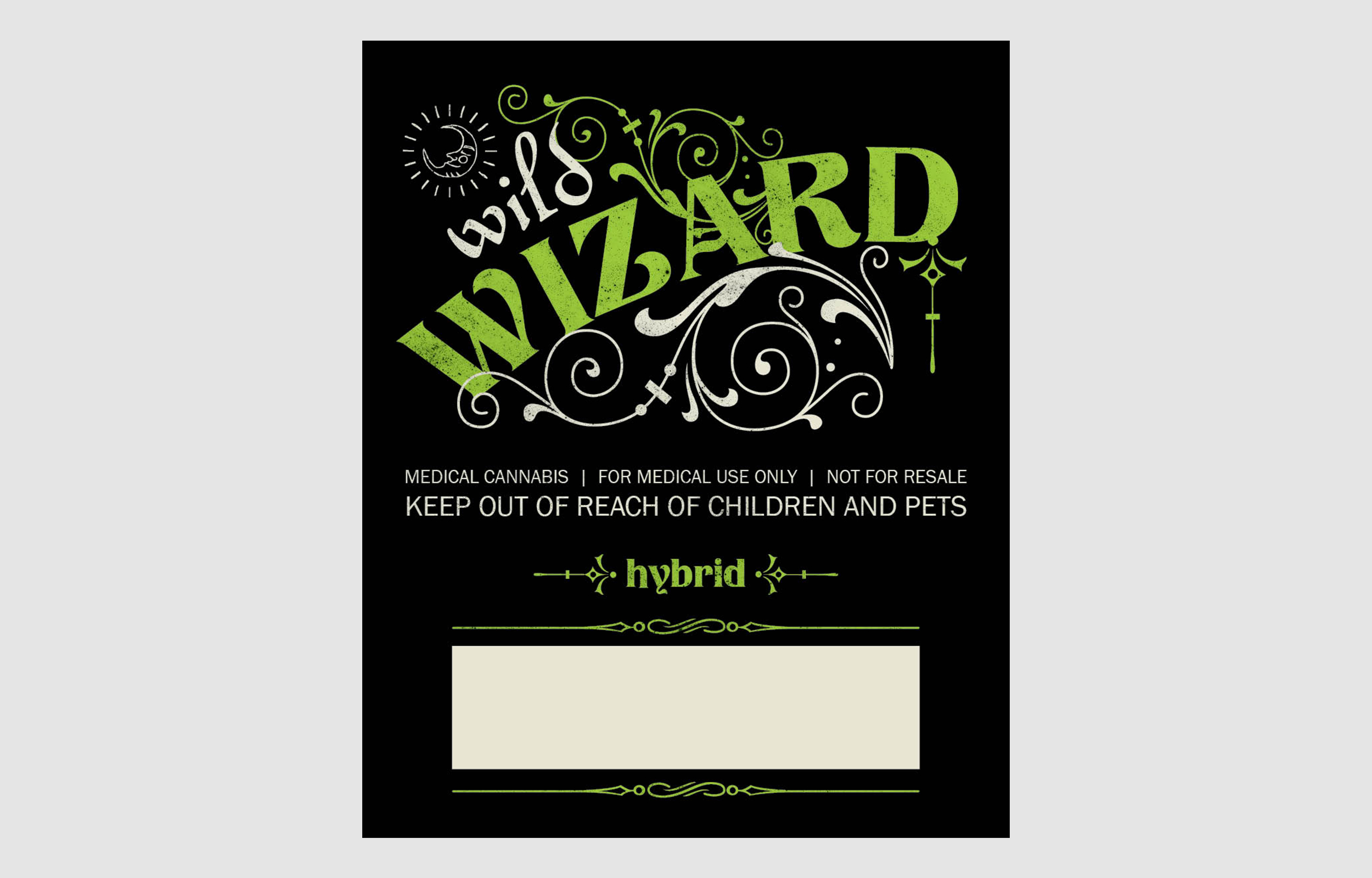 Wild Wizard Hybrid Label
