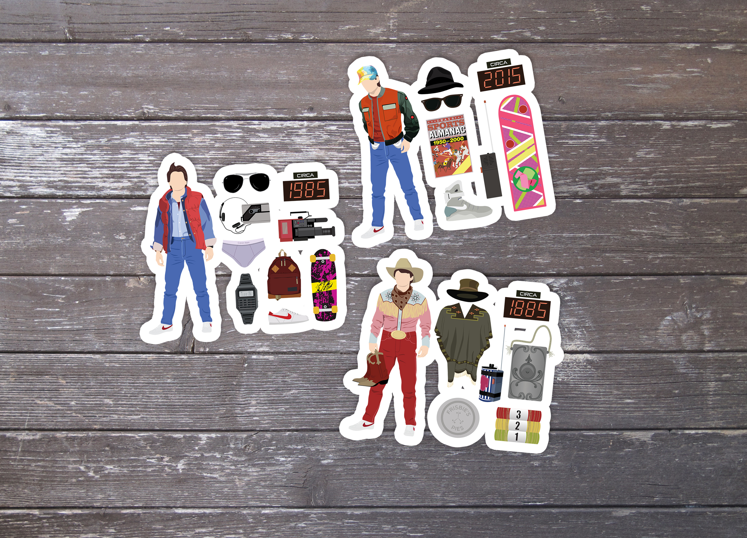 Back to the Future, Stickers