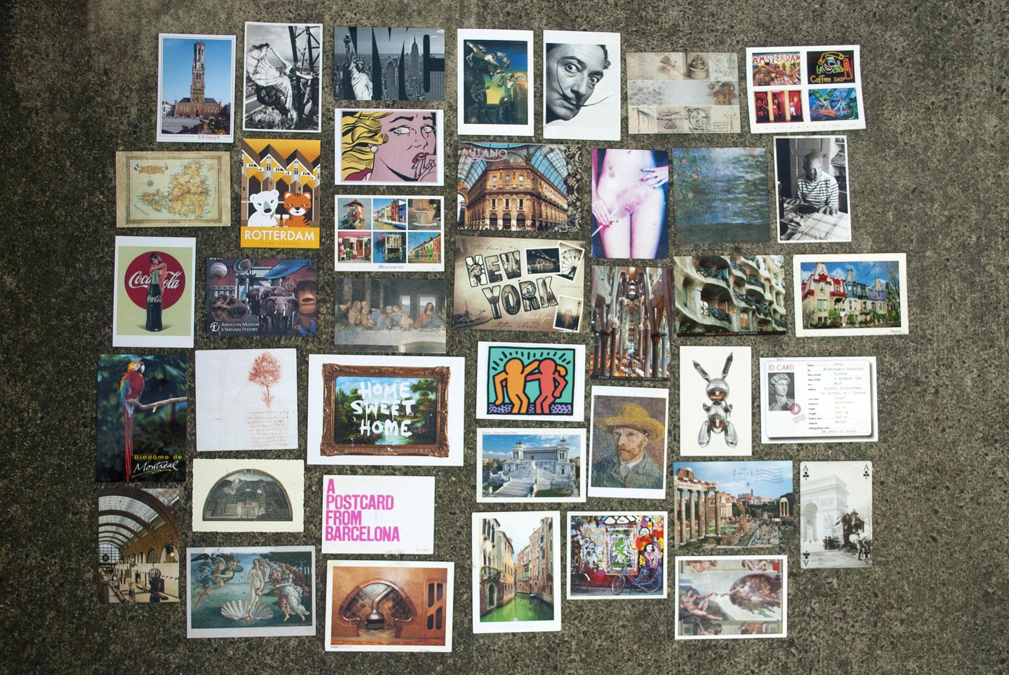 Postcards I've sent myself during my travels