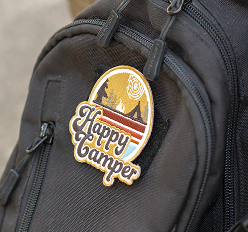 Happy Camper Embroidered Patch by Amanda Weedmark
