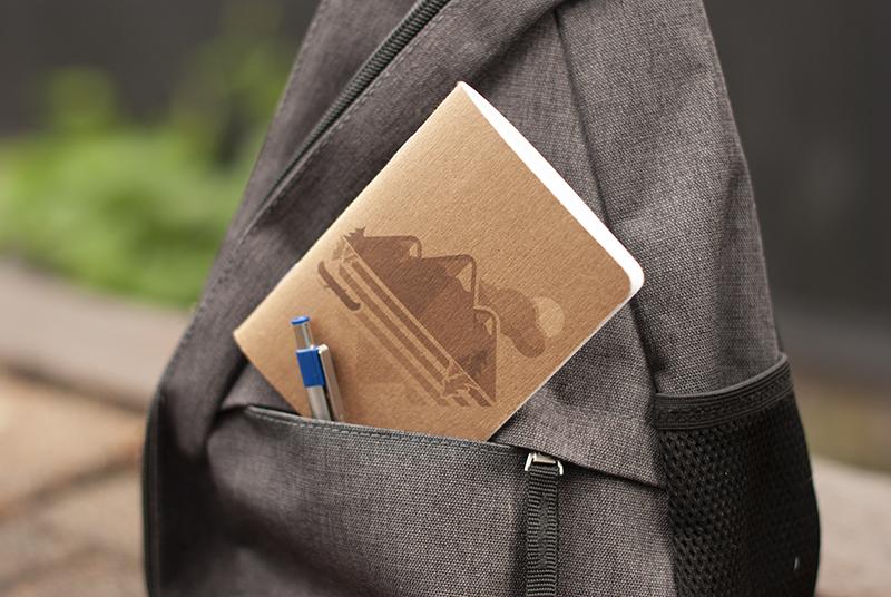 """""""Explore"""" Kraft Dot Grid Pocket Notebook by Amanda Weedmark"""