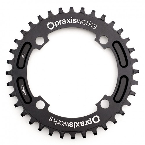 Wide-Narrow Chainring that fits Shimano's new 96 BCD cranks (M8000 XT & M9000 XTR). Shimano currently does not offer a wide-narrow tooth chainring