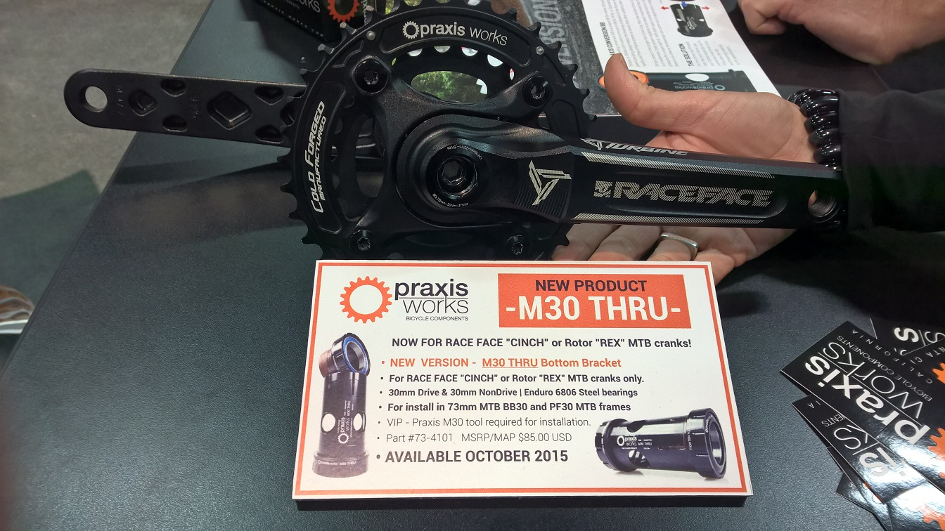 Praxis Works M30 Thru BB for Race Face Cinch and Rotor Cranks