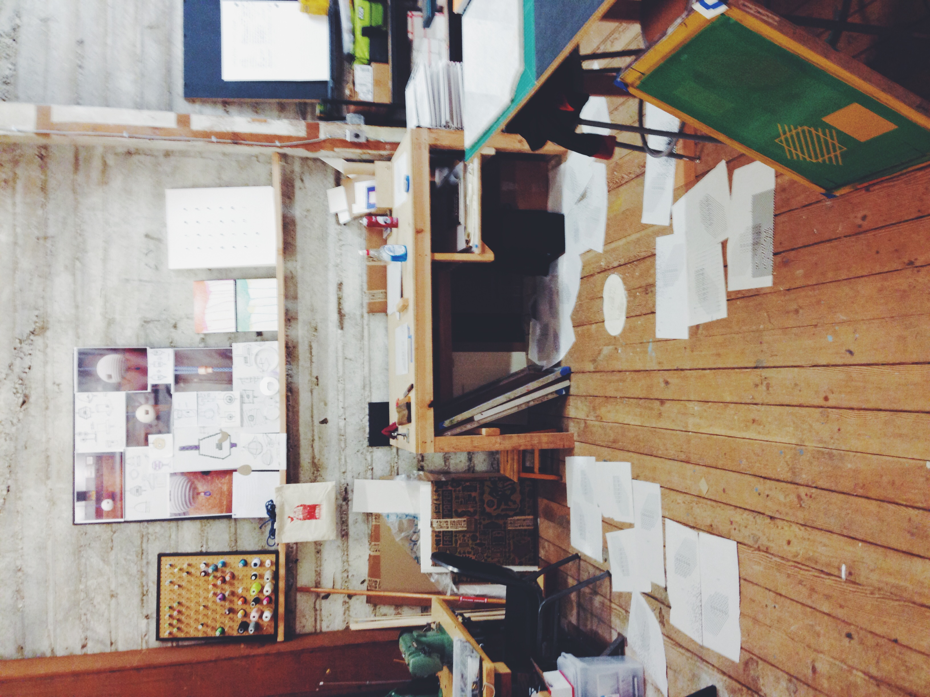 A cluttered workspace means an uncluttered mind (most of the time).