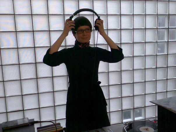 This is me DJing, May 2007. The iPod is not mine and I have no idea who took this photo.