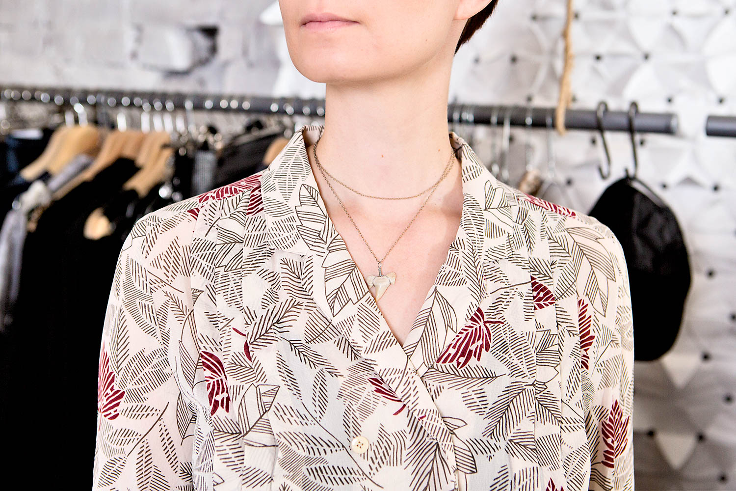 This necklace is made by Carolina Kavanterä.