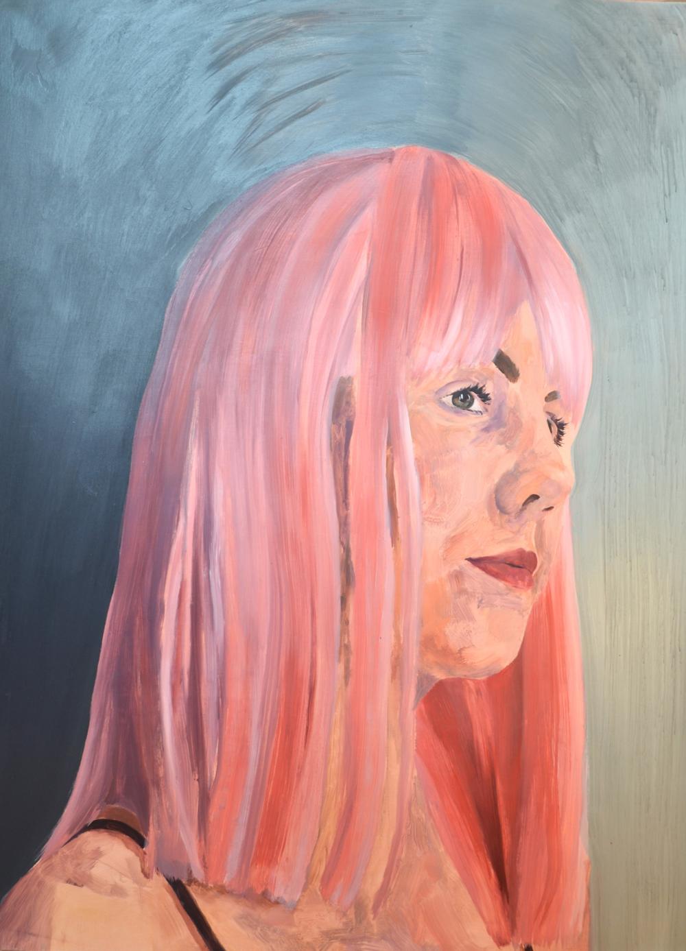 'Pink Portrait'  - Sophie Morro, 2014