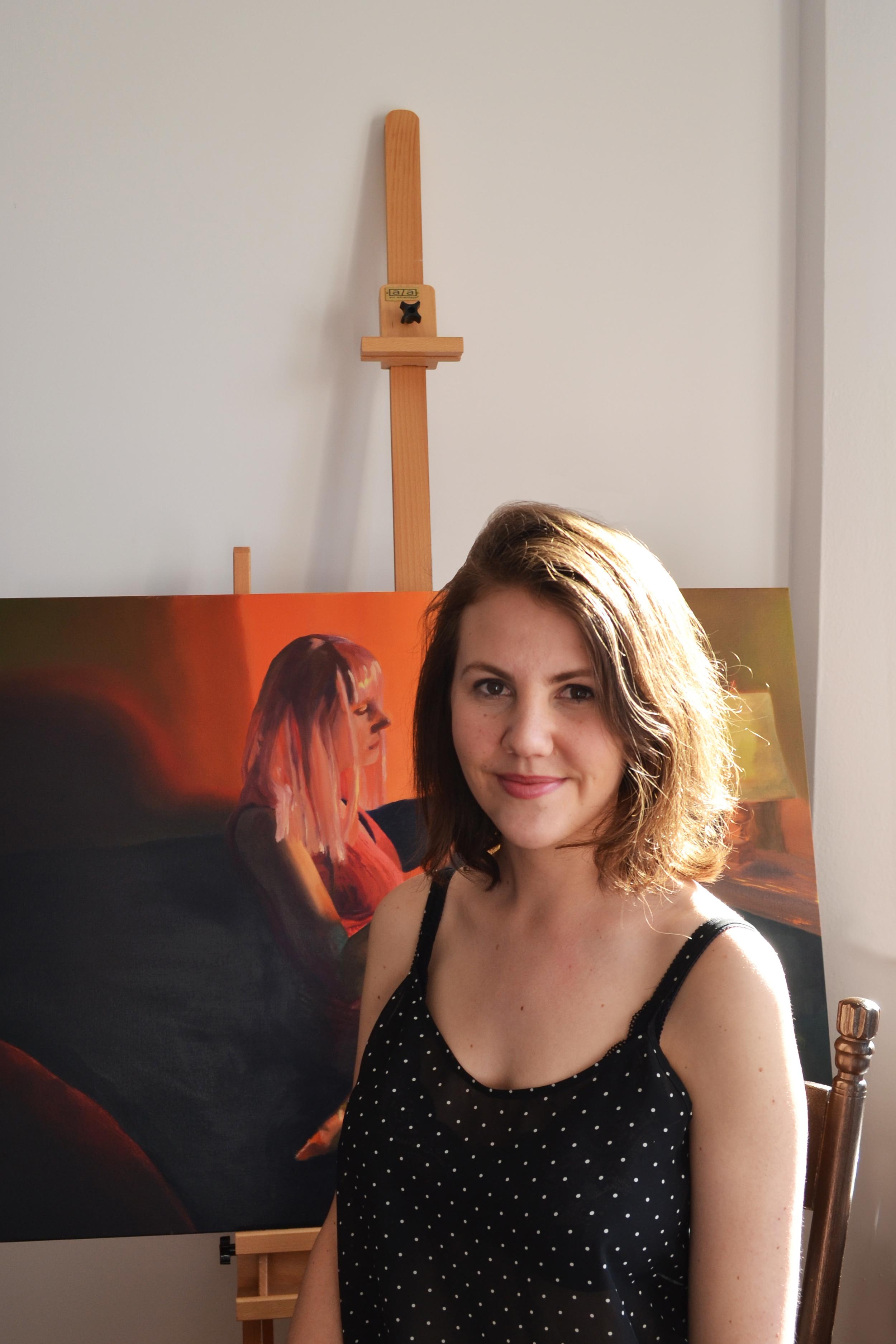 Sophie Morro in her studio. Montreal, Canada.