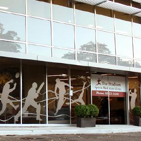 The Stadium Sports Medicine Clinic   Signage, Logo Development