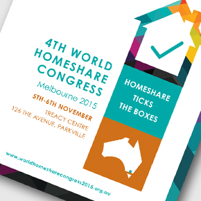 4th World Homeshare Congress 2015  Delegate Handbook Design