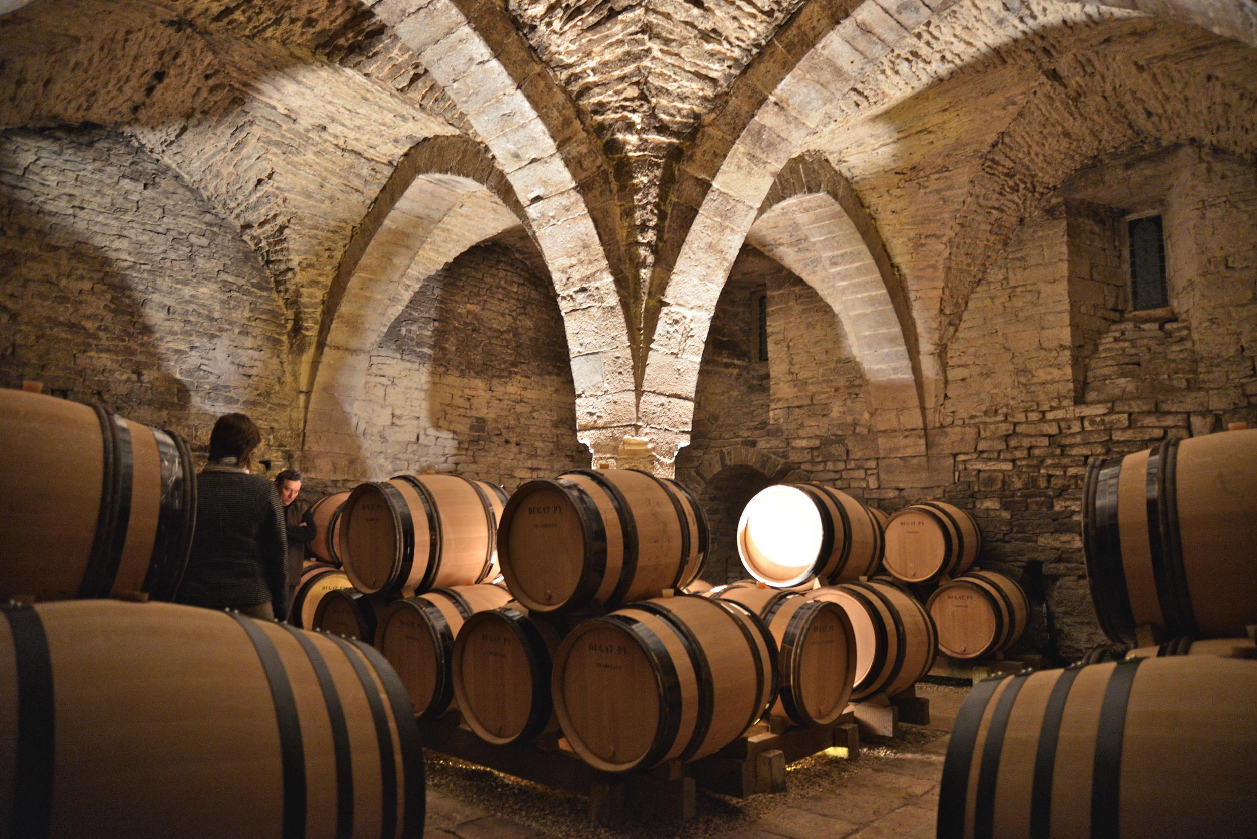 The 9 century cellars of Dugat-Py, Gevrey Chambertin, Burgundy