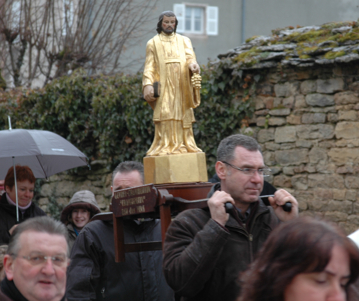 The procession of St Vincent in Gevrey Chambertin, Burgundy