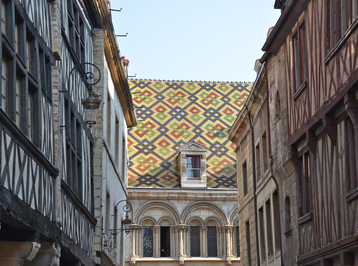 The old quarter of Dijon where most of the city's fine dining is found