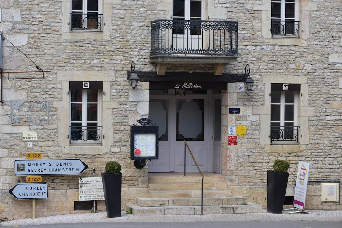 Le Millésime Chambolle Musigny - excellent village restaurant