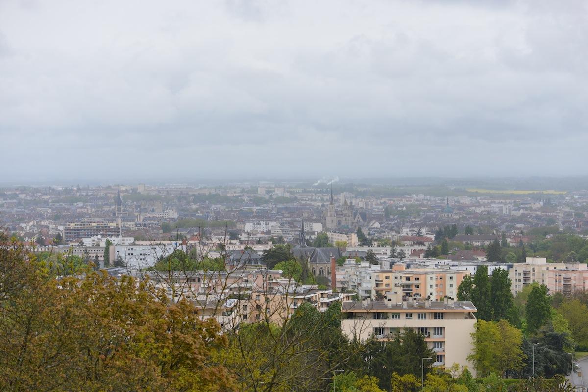 Dijon seen from the hill of Talant, Dijon, Burgundy