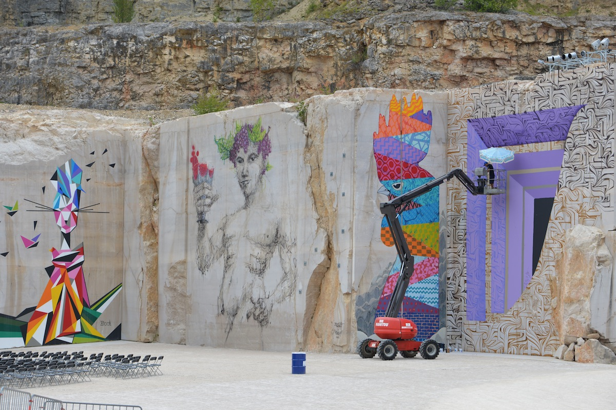 Festival of Rock Art at Villars Fontaine, Burgundy