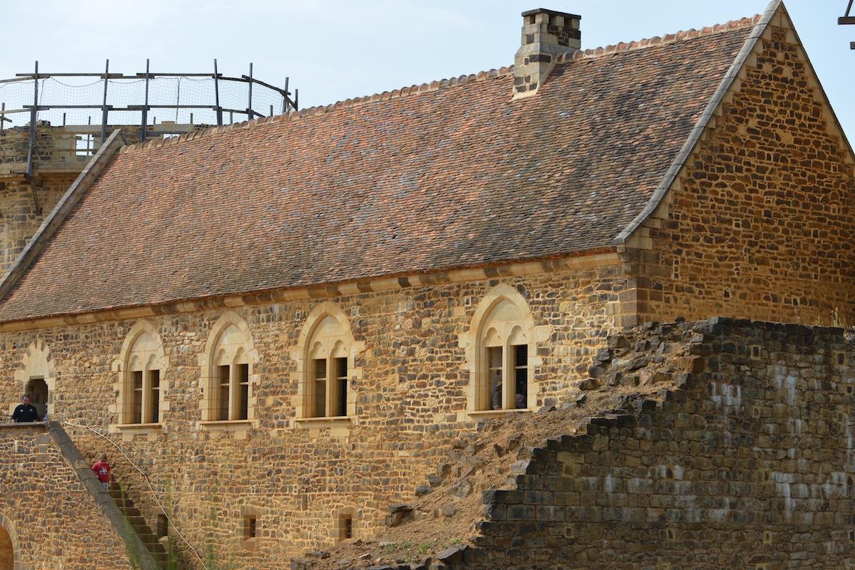 Living quarters at Guedelon, Burgundy
