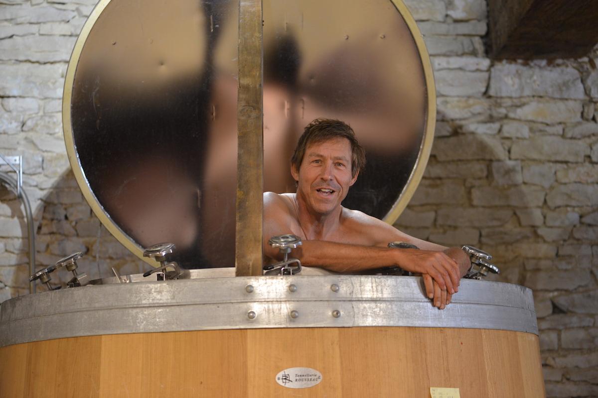 happy as a winemaker in a vat of Burgundy grand cru!