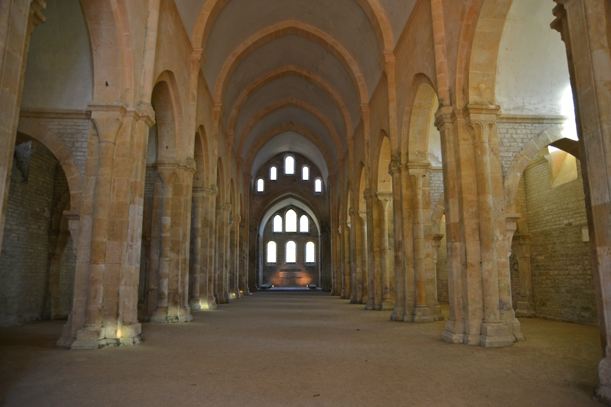 classical romanesque/gothic arches and wonderful light penetration