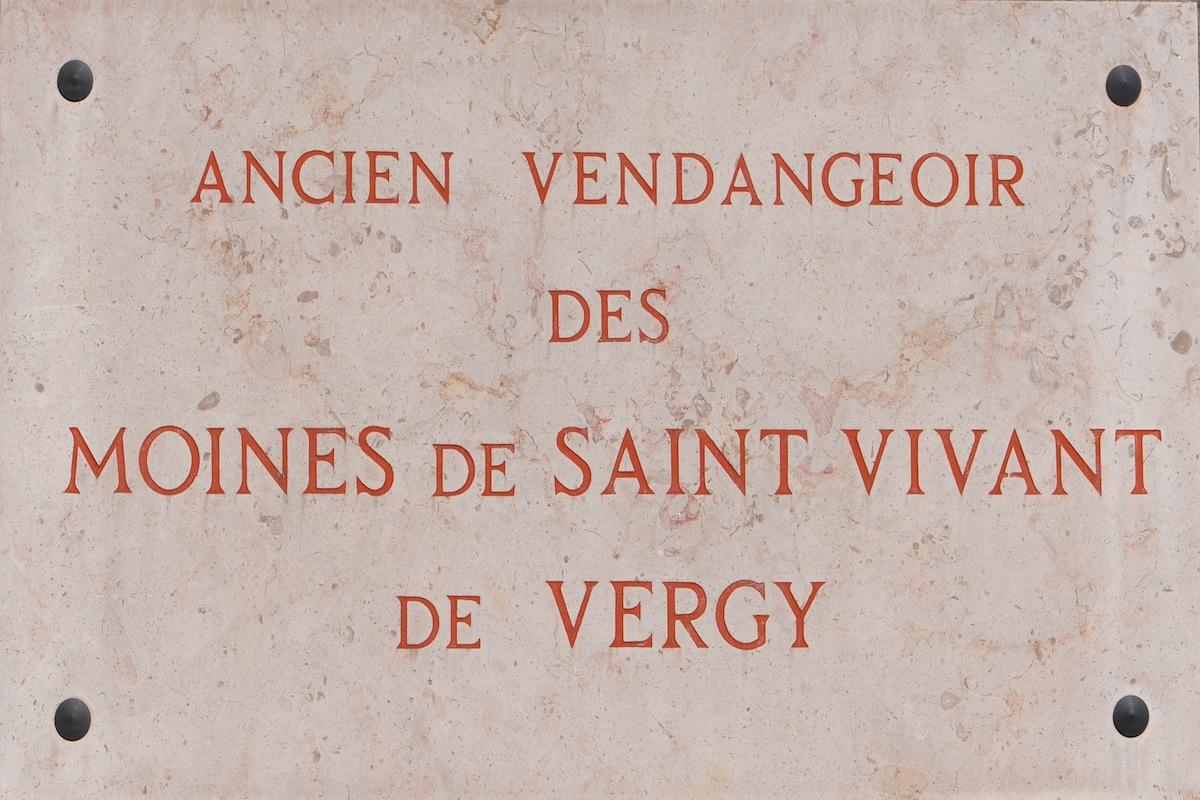 The plaque outside Romanee-Conti