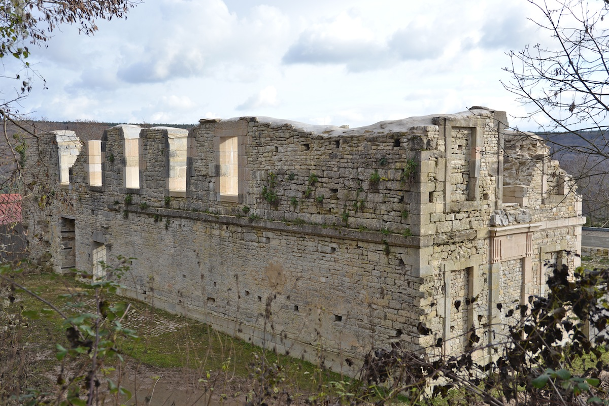 The remains of the Abbey St Vivant
