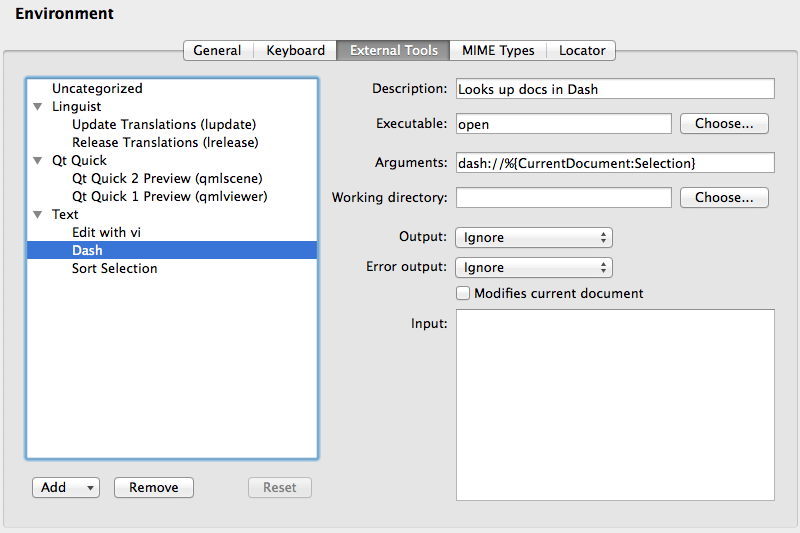 Using Dash with Qt Creator — Cutehacks