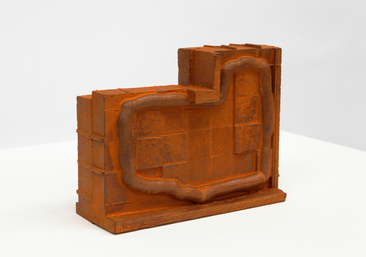 Taking Shape No. 3, 2012, cast iron, 18 x 9.5 x 23 cm