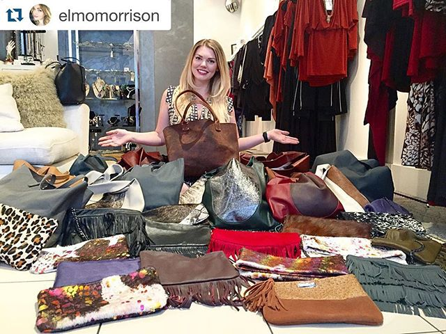 #Repost @elmomorrison with @repostapp. ・・・ Thank you so very much to everybody who came out to support!!!! So much love, can't wait for what's next! 😍💛😘 #houseofmorrison @morrisonhandbags #dallas #abiferrin #trunkshow #dallas #local #designer #custom #leather #handbags #accessories #shopping