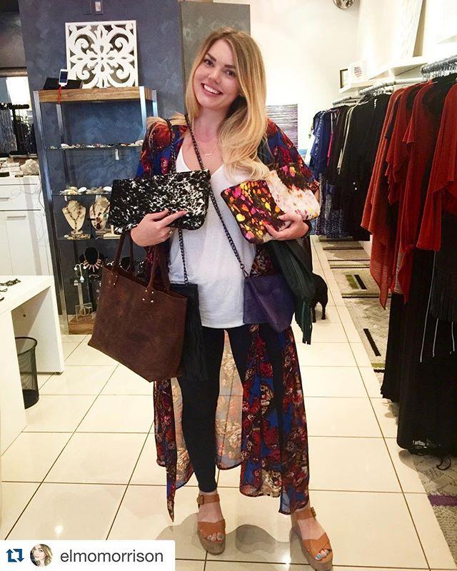 #Repost @elmomorrison with @repostapp. ・・・ First day of trunk show = success! 😍💛🎉💃 @abiferrin @morrisonhandbags #custom #leather #handbags #dallas #local #designer #westvillage