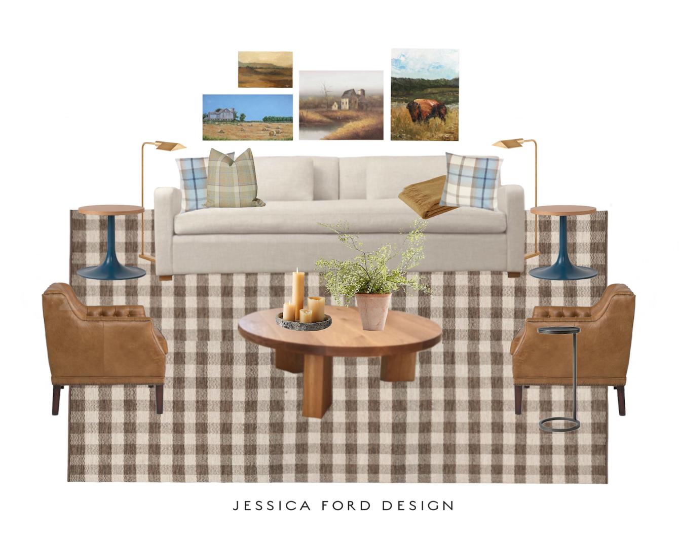 Cabin Living Room Design