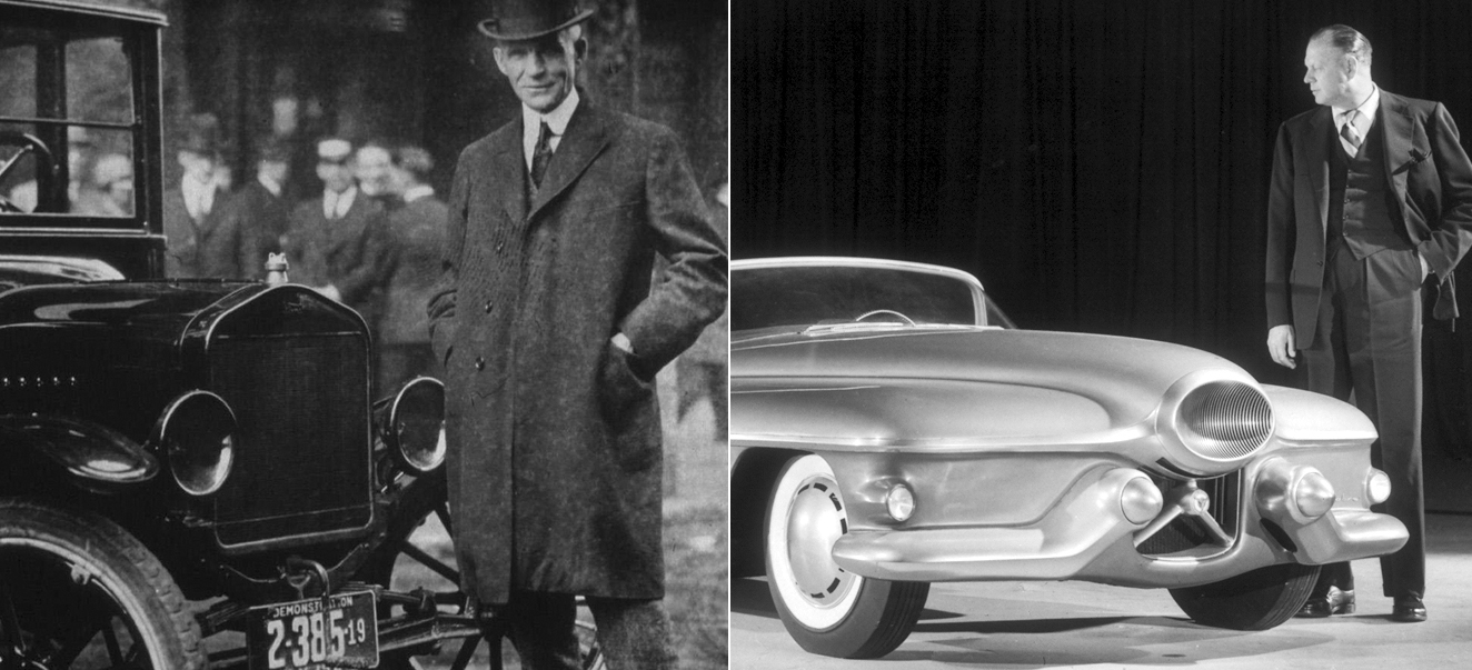 Henry Ford (the old master) and Harley Earl (the modern master).
