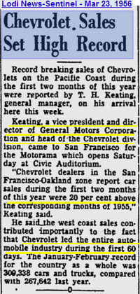 """They called it """"Styling Leadership"""" and Chevy was gaining new market share hand over fist. Chevrolet's share was north of 25% in '56. America's greatest auto maker hasn't seen rising sales stats like these ever since!"""