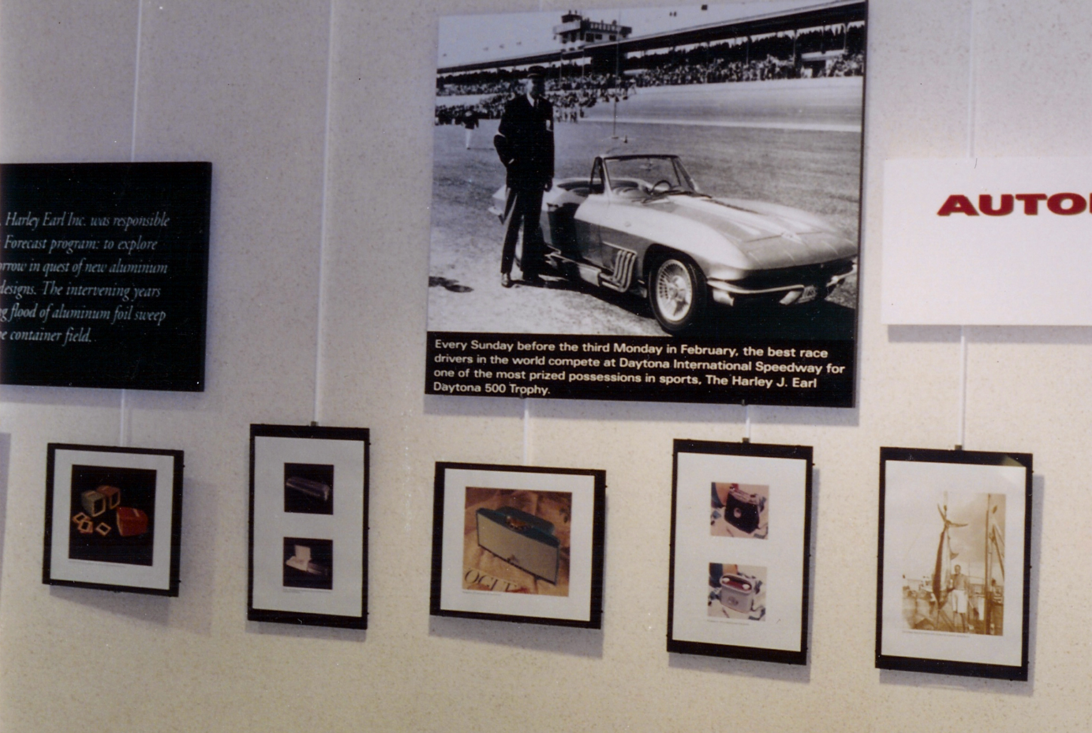 HJE's personal 1963 Corvette shown in Harley Earl photo exhibit