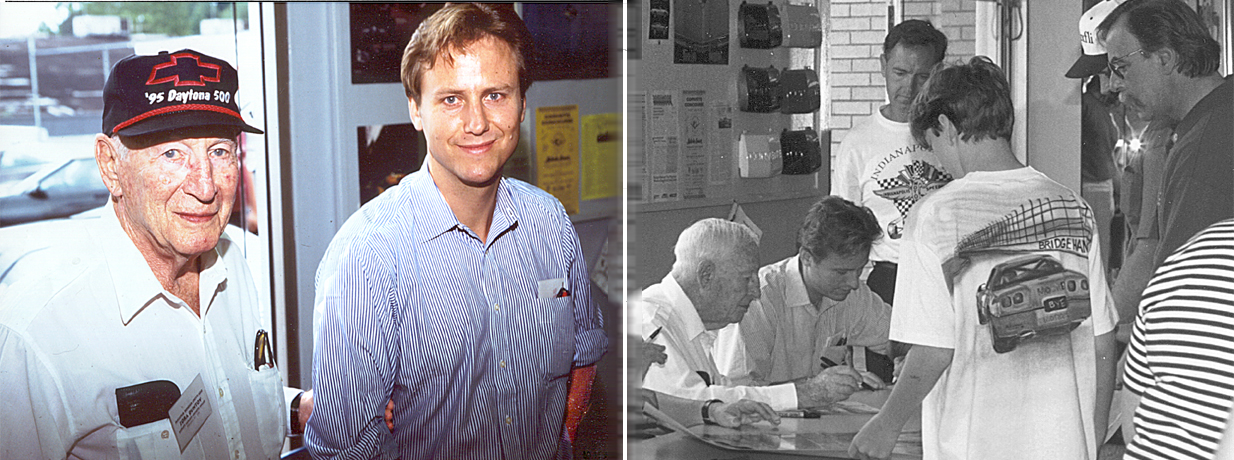 These two photos were taken in 1995. Notice what a Detroit auto journalist wrote in 1997 about Zora helping Richard get his project rolling (2nd newspaper article shown further down; see red arrows).