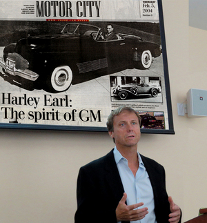 Richard uses a  Detroit Free Press  article on the meteoric rise of GM during the mid-twentieth century; similar articles further down.
