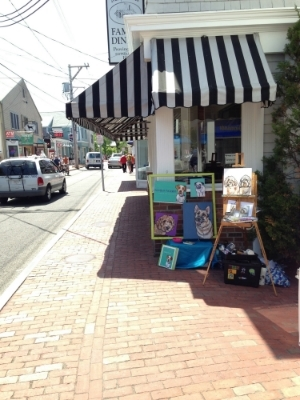 My live painting setup on Commercial Street in Provincetown.