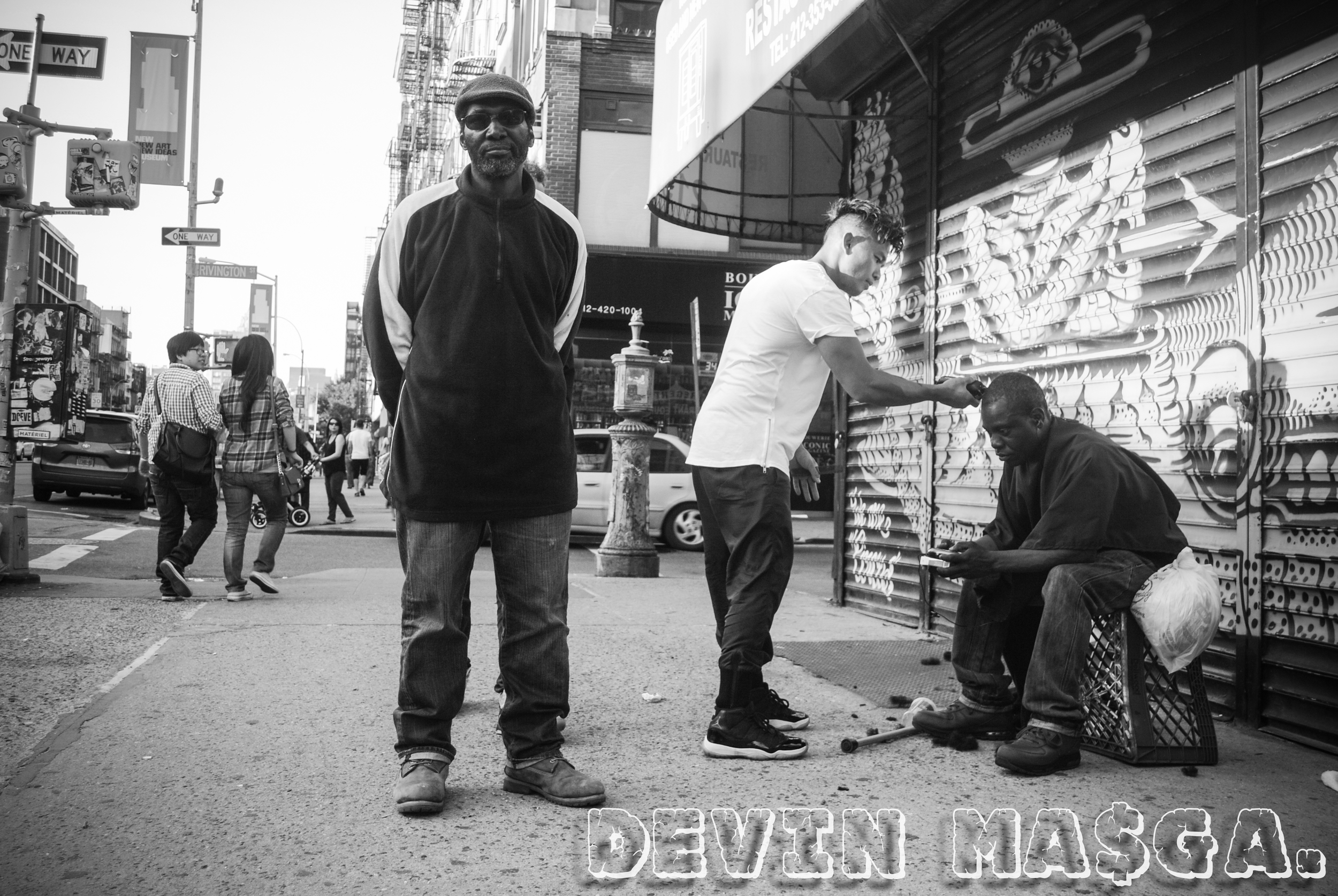 Photo by  Devin Masga . Devin, a Brooklyn-based street photographer, takes many of the photos found on Mark's Instagram account.