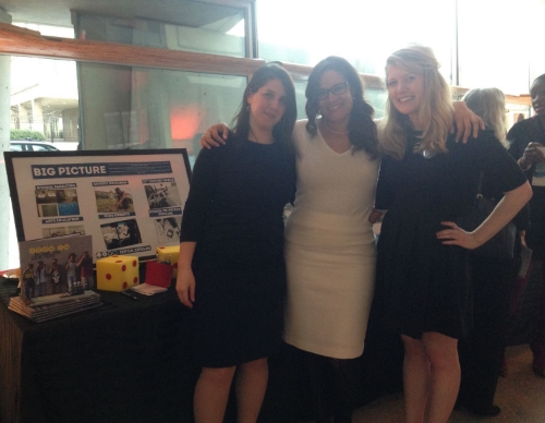 We were thrilled to run into our friend Jackie from  Critical Exposure ! Photos  from some of the organization's students were on display Monday night. (L-R): DDG editorial director  Holly Leber , DDG founder Saranah Holmes,  Critical Exposure  director of development and communications Jacquelyn Horstmann.