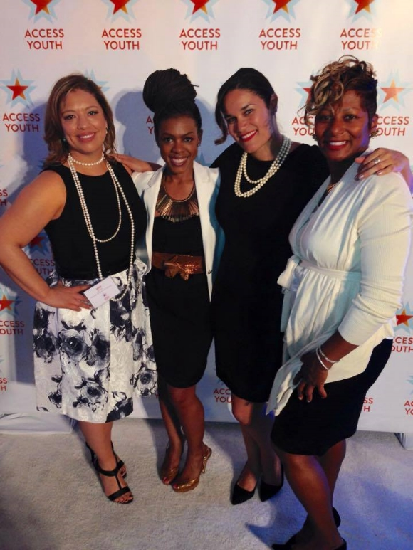 DDG founder Saranah Holmes (2nd from right) and friends.