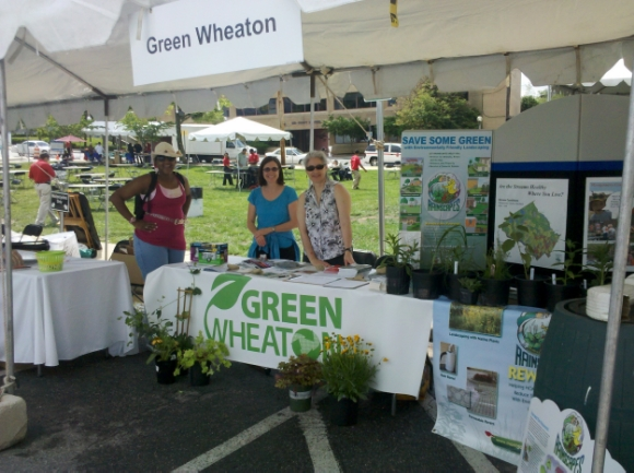 Green Wheaton representatives at Taste of Wheaton/Photo source: Green Wheaton