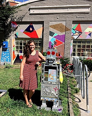 Robot Little Free Library created at     SCRAP DC    / Photo source: Marcelle Fozard