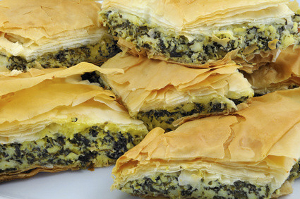Spinach and Pinenut Filo Pie