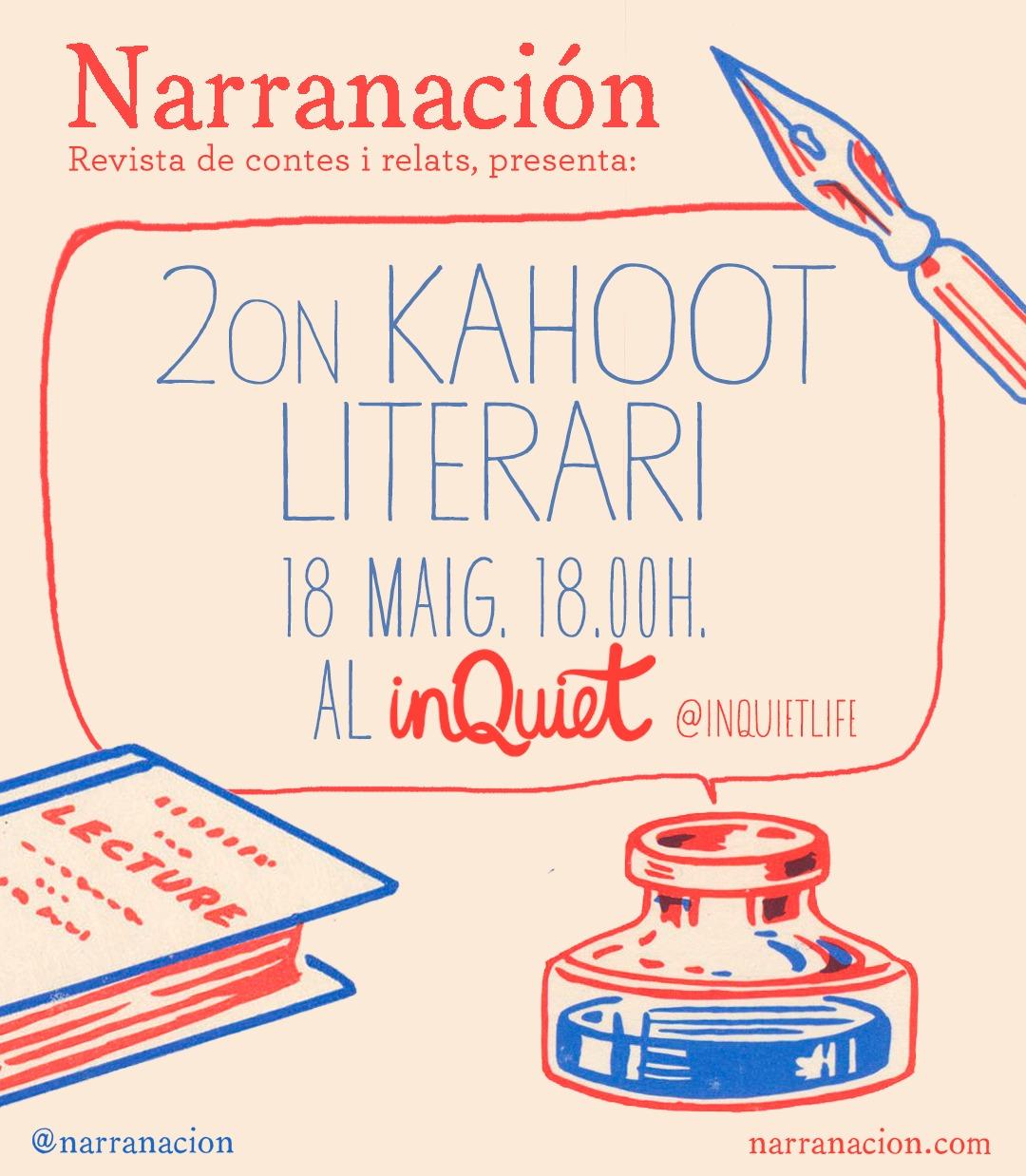 KAHOOT - dissabte 18/05 a les 18hA partir de 16 anysAccés gratuïtConsumició mínima