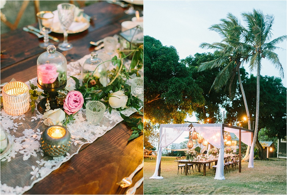 Unique outdoor wedding reception